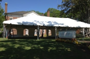 30'x60' frame tent with window sidewalls