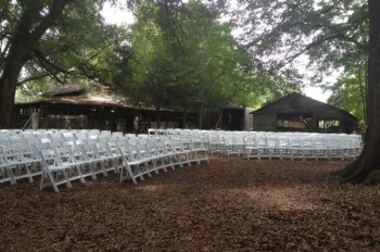 200 white padded chairs