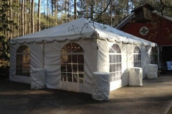 20'x30' frame tent with window sidewalls