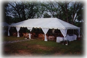 20'x40' frame tent with leg curtains
